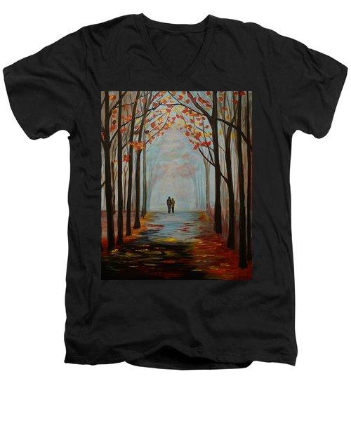 And I Love You So Men's V-Neck T-Shirt by Leslie Allen