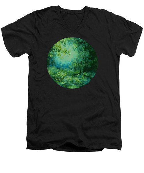And Time Stood Still Men's V-Neck T-Shirt by Mary Wolf