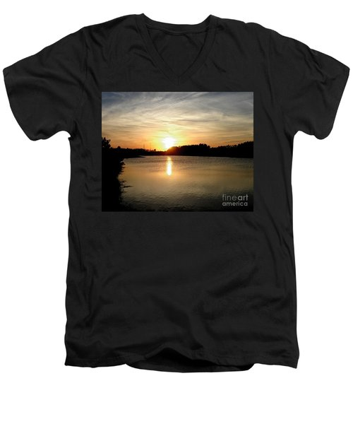 Anderson Stormwater Park In Rockledge Florida Men's V-Neck T-Shirt