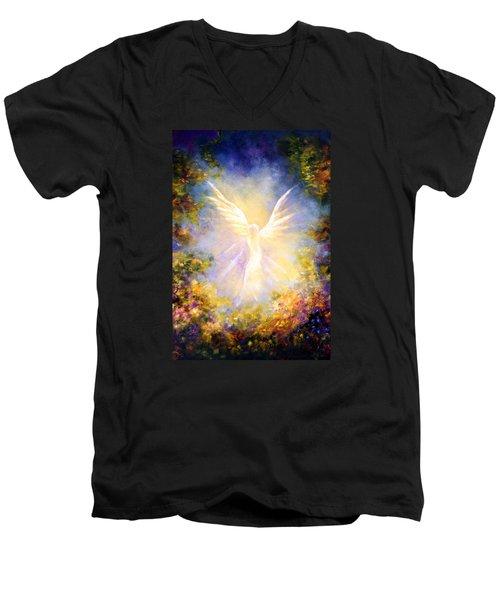 Angel Descending Men's V-Neck T-Shirt