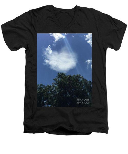 Angel Grace Protection Men's V-Neck T-Shirt
