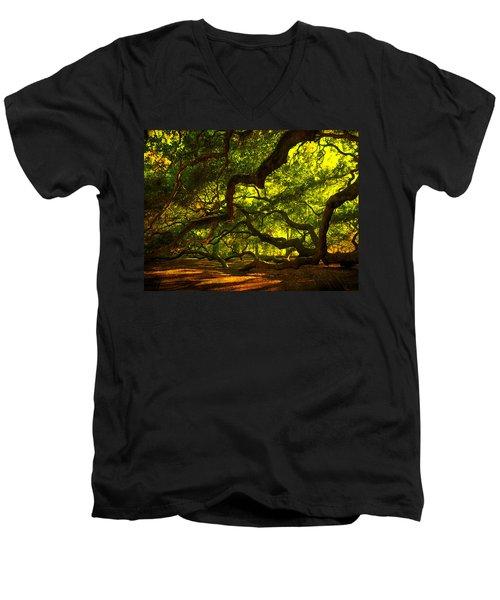 Angel Oak Limbs 2 Men's V-Neck T-Shirt