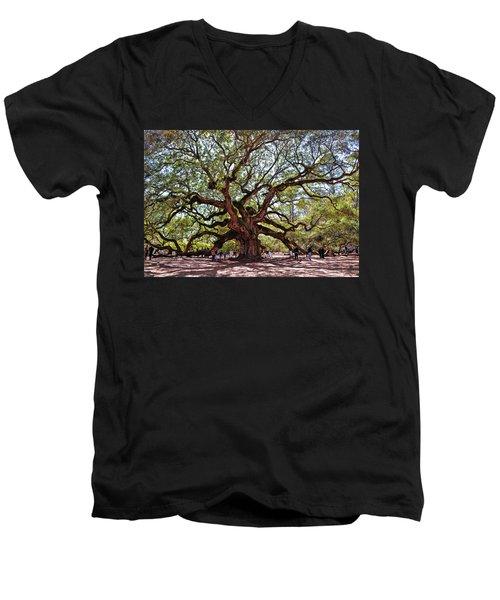 Angel Oak Tree 009 Men's V-Neck T-Shirt
