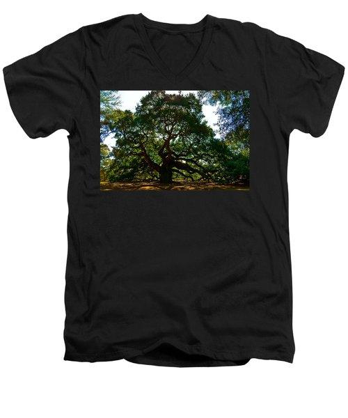 Angel Oak Tree 2004 Men's V-Neck T-Shirt