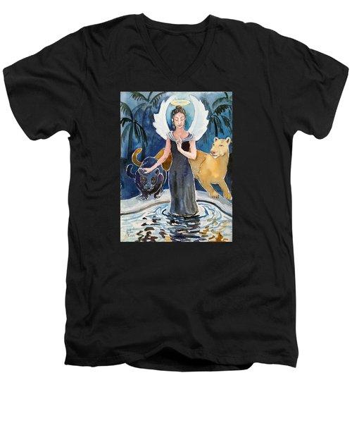 Angel Of Balance And Harmony Men's V-Neck T-Shirt