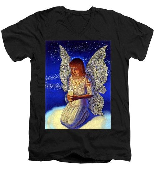 Angel Prayer Men's V-Neck T-Shirt
