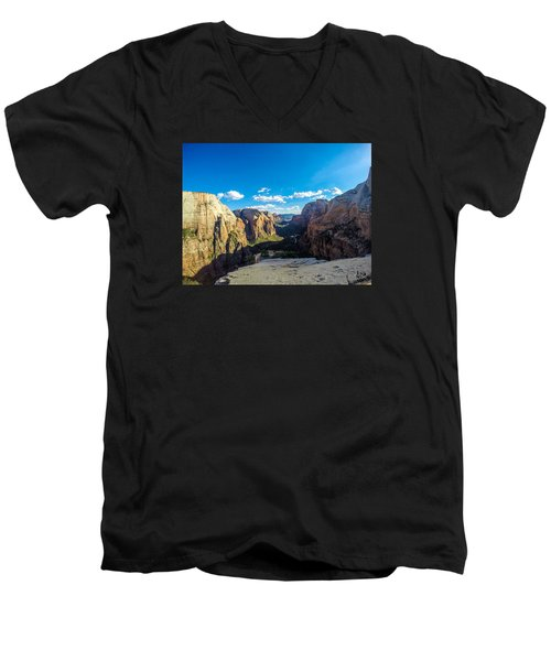Angels Landing Men's V-Neck T-Shirt