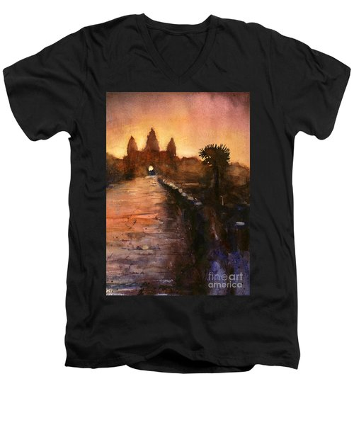 Angkor Wat Sunrise 2 Men's V-Neck T-Shirt