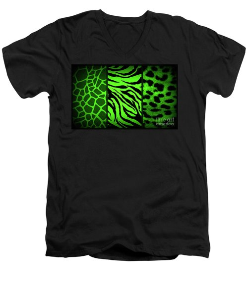 Animal Prints Men's V-Neck T-Shirt