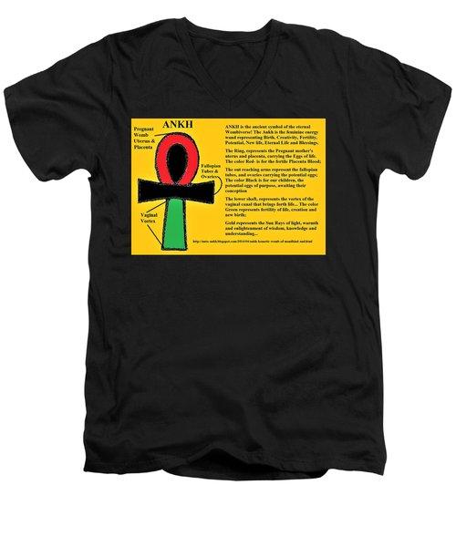 Ankh Meaning Men's V-Neck T-Shirt