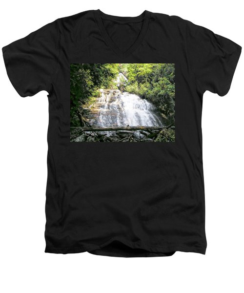 Anna Ruby Falls Men's V-Neck T-Shirt by Jerry Battle