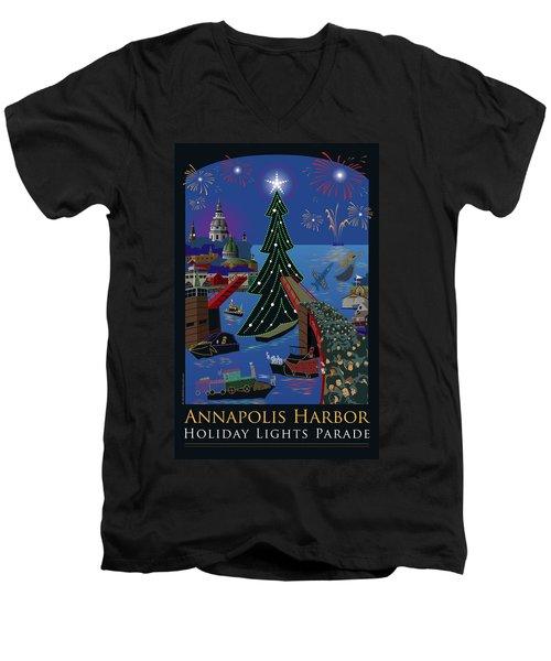 Annapolis Holiday Lights Parade Men's V-Neck T-Shirt