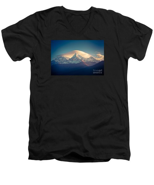 Annapurna Sunrise Himalayas Mountain Artmif Men's V-Neck T-Shirt
