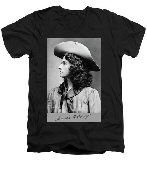 Annie Oakley Profile Men's V-Neck T-Shirt