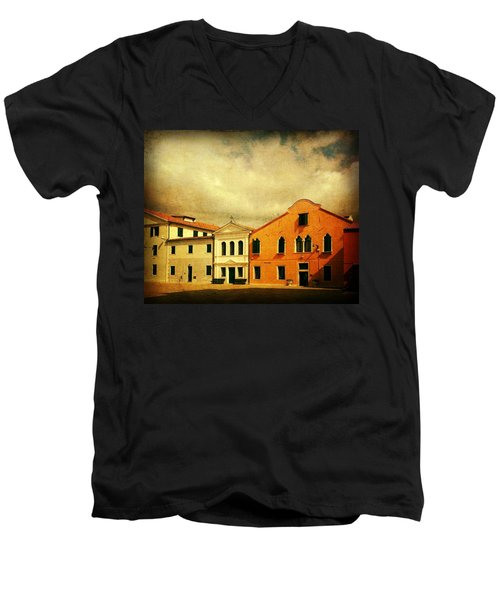 Men's V-Neck T-Shirt featuring the photograph Another Malamocco Day by Anne Kotan