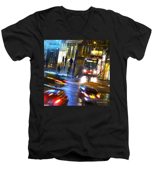 Men's V-Neck T-Shirt featuring the photograph Another Manic Monday by LemonArt Photography