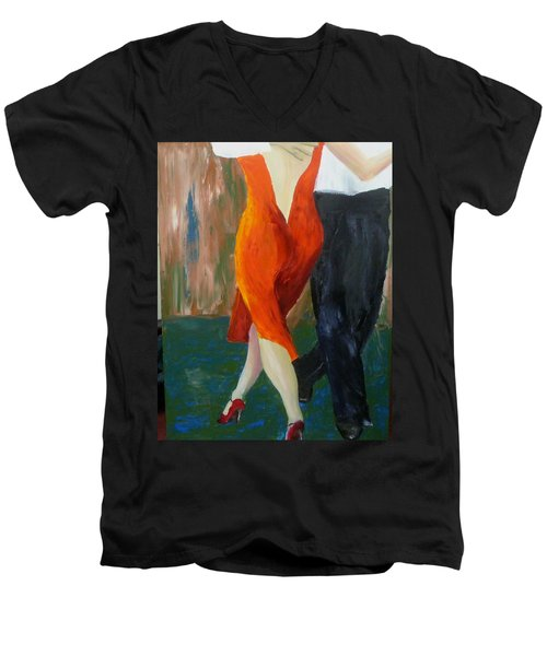 Another Tango Twirl Men's V-Neck T-Shirt