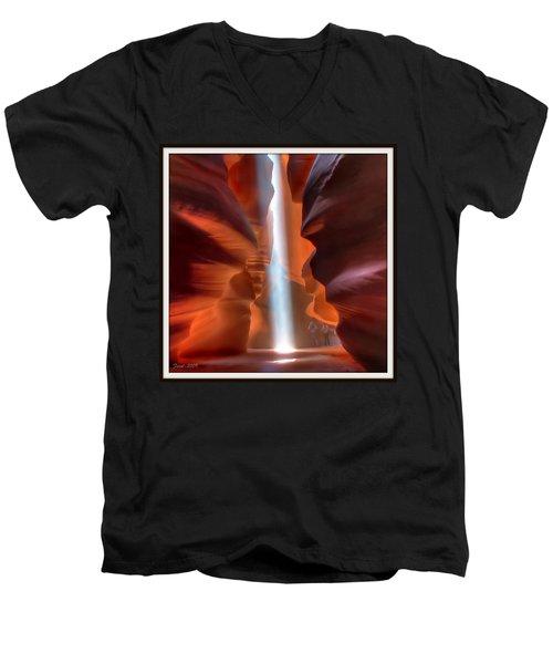 Antelope Canyon Light Men's V-Neck T-Shirt