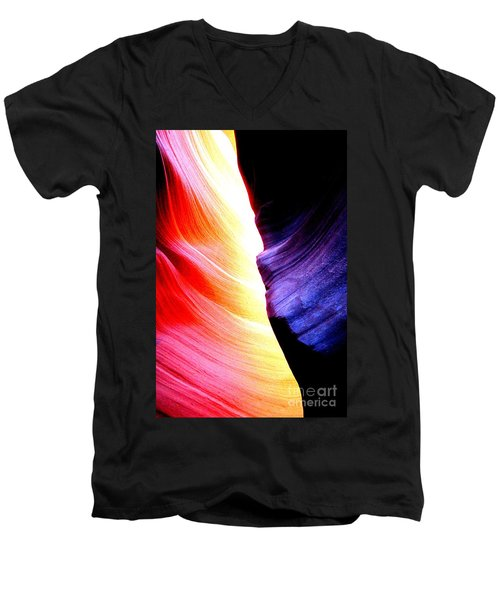 Passion Of Antelope Canyon Men's V-Neck T-Shirt