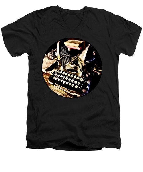 Antique Typewriter Oliver #9 Men's V-Neck T-Shirt