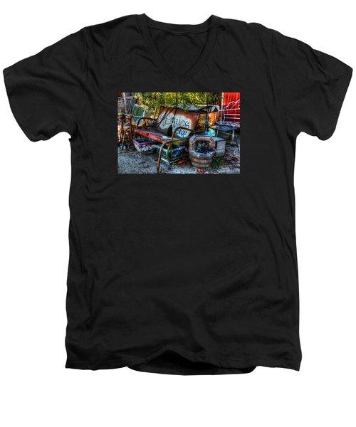 Antiques Shop Men's V-Neck T-Shirt by Ester Rogers
