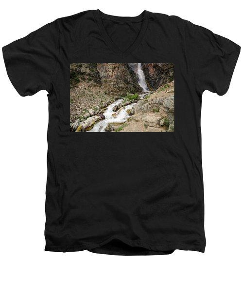Apikuni Falls Men's V-Neck T-Shirt