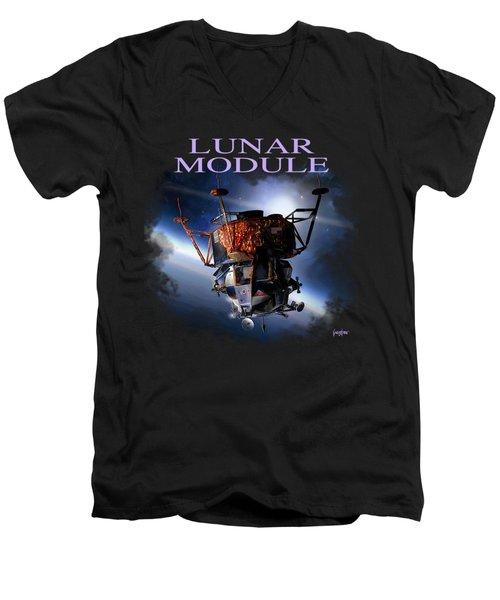 Apollo 9 Lm Men's V-Neck T-Shirt