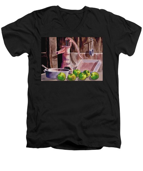 Apple Pie Men's V-Neck T-Shirt by Ron Chambers