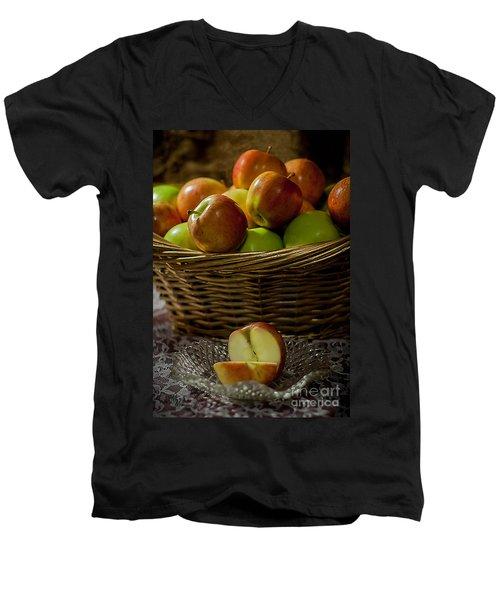 Apples To Share Men's V-Neck T-Shirt