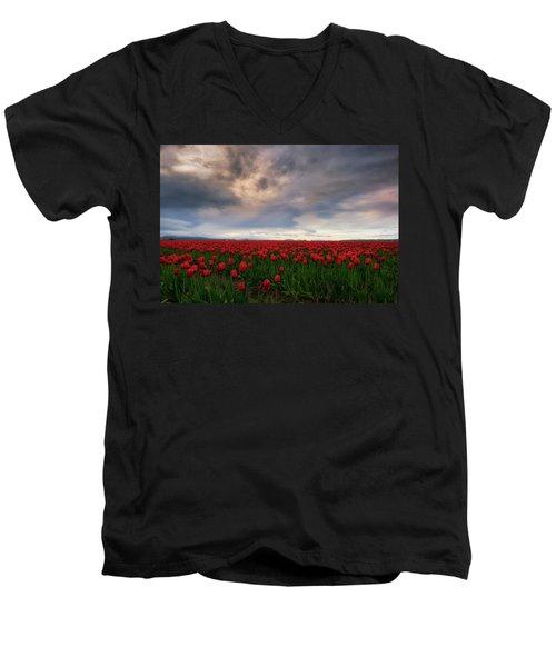 April Showers Men's V-Neck T-Shirt by Ryan Manuel