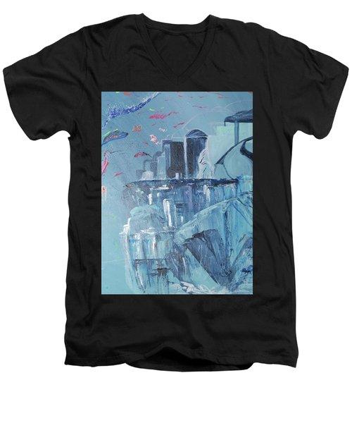 Aqua Resort Men's V-Neck T-Shirt