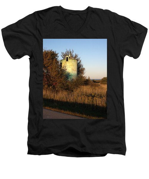 Aqua Silo Men's V-Neck T-Shirt