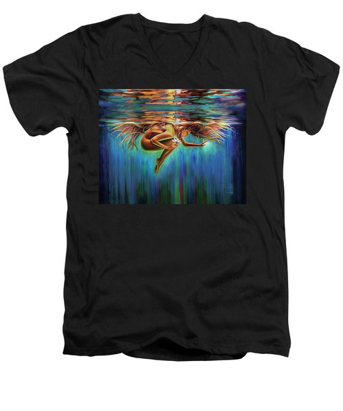 Aquarian Rebirth II Divine Feminine Consciousness Awakening Men's V-Neck T-Shirt