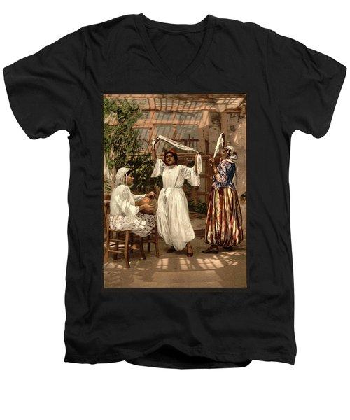 Arab Dancing Girls - Remastered Men's V-Neck T-Shirt