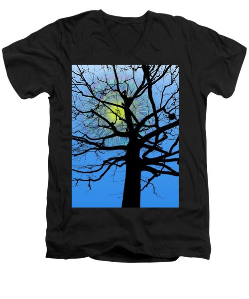 Arboreal Sun Men's V-Neck T-Shirt
