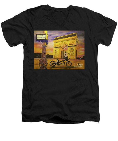 Arc De Triomphe Men's V-Neck T-Shirt