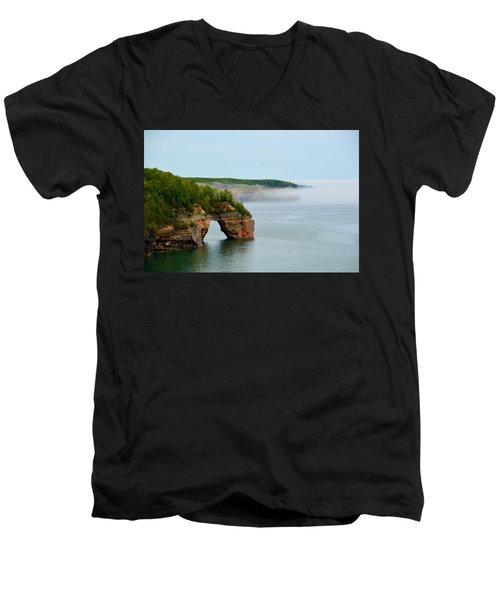 Arch Over Superior Men's V-Neck T-Shirt