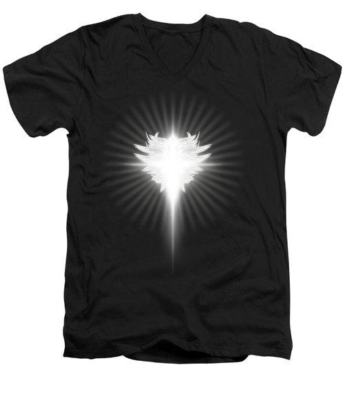 Archangel Cross Men's V-Neck T-Shirt by James Larkin