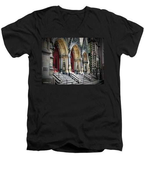 Arched Doorways Men's V-Neck T-Shirt by Brian Wallace