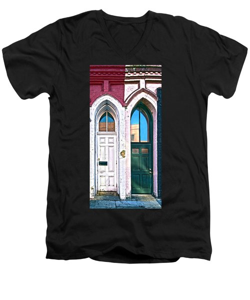050 - Door One And Door Too Men's V-Neck T-Shirt
