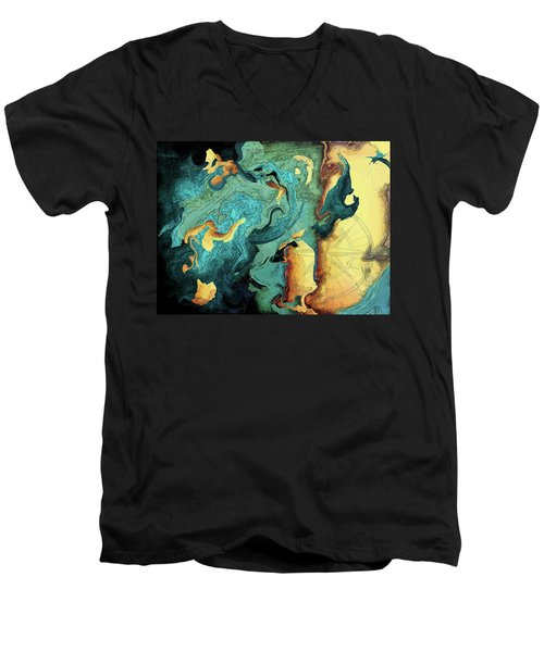 Archipelago Men's V-Neck T-Shirt by Deborah Smith