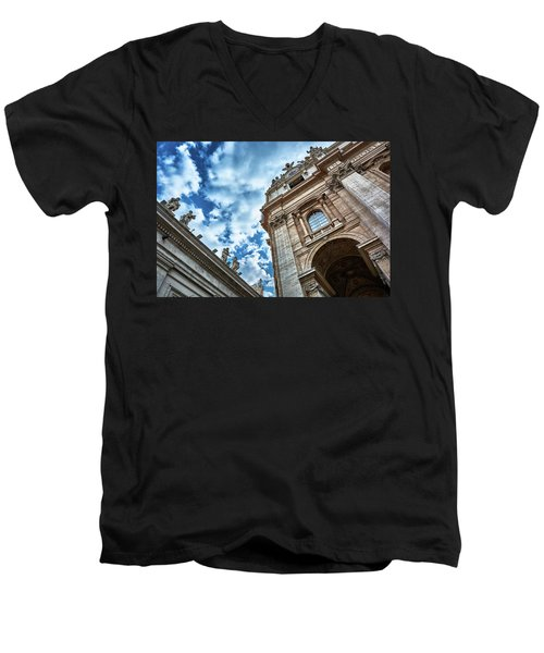 Architectural Majesty On Top Of The Sky Men's V-Neck T-Shirt