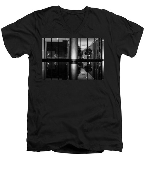 Architectural Reflecting Pool Men's V-Neck T-Shirt