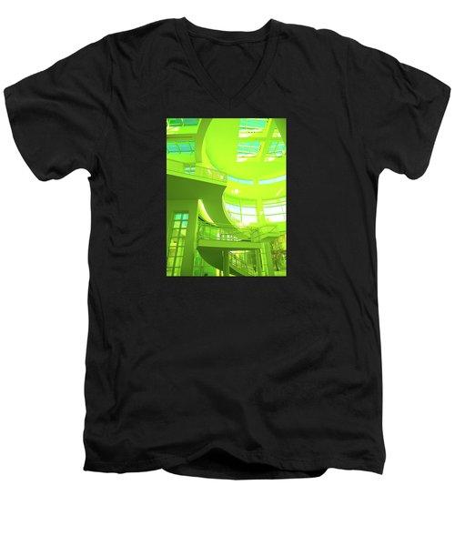 Green Splash Architecture Men's V-Neck T-Shirt