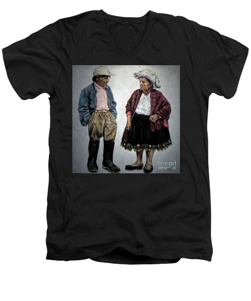 Are You Going To Town Like That? Men's V-Neck T-Shirt