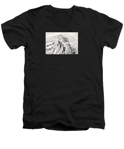 Arizona Desert In Black And White Men's V-Neck T-Shirt