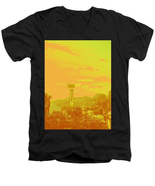 Men's V-Neck T-Shirt featuring the photograph Arizona Road I by Carolina Liechtenstein