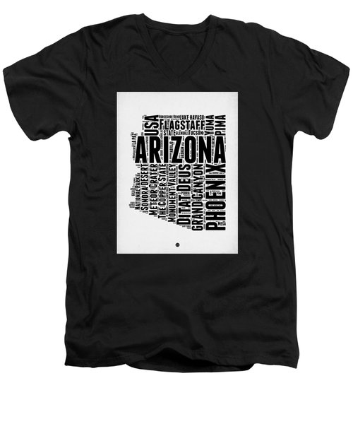 Arizona Word Cloud Map 2 Men's V-Neck T-Shirt