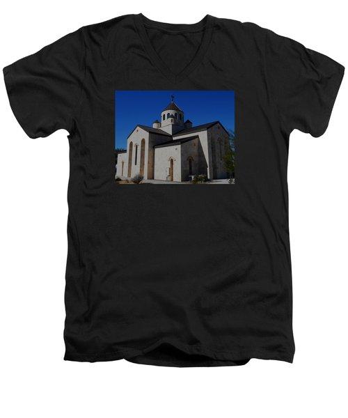 Armenian Church 2 Men's V-Neck T-Shirt