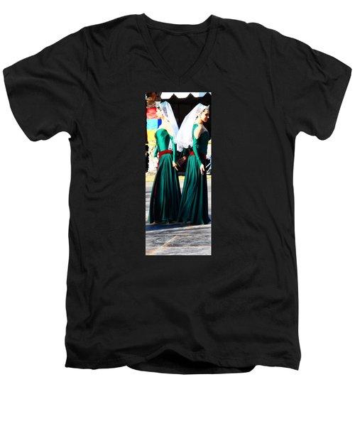 Armenian Dancers 8 Men's V-Neck T-Shirt